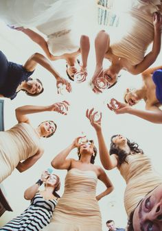 Fun bridesmaids pic idea.