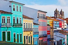 The most colorful cities in the world.  Pelourinho, Salvador, Brazil