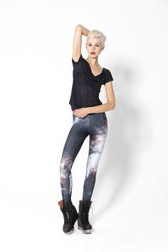 Galaxy Black Leggings
