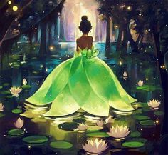 The Princess and the Frog Tiana illustration , Disney princess - Tiana - Disney Drawings, The Princess And The Frog, Painting, Animation, Disney Wallpaper, Disney Paintings, Disney Magic, Art, Cross Paintings