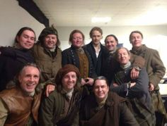 BTS pic of the cast of Outlander