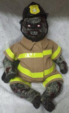 Zombie Baby Fireman Halloween Haunted  Horror Prop