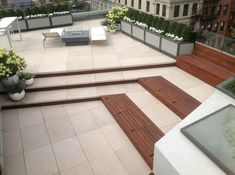 Look at the unbelievably beautified rooftop deck design. A multi-level decking with built-in bench looks glamorous. There is a great margin of decoration in this rooftop project. This rooftop design will make you allow to arrange gatherings and friend's parties in your space.