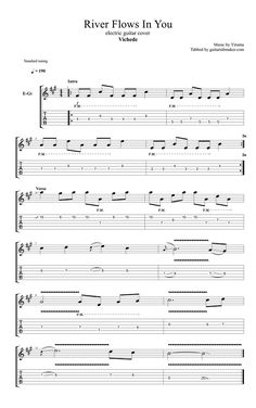 yiruma 39 river flows in you 39 sheet music notes chords download printable guitar tab sku. Black Bedroom Furniture Sets. Home Design Ideas