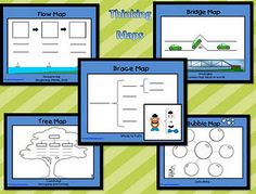 Thinking Maps Posters I made for Kindergarten kiddos