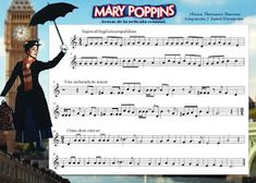 Mi música divertida: Partituras escolares Flute Sheet Music, Violin Music, Music Songs, Recorder Karate, Mary Poppins, Music Activities, Teaching Music, Piano Lessons, Ukulele