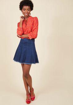 Here and Spirited Mini Skirt, @ModCloth