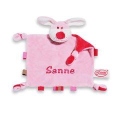 Tutpopje met naam Roze