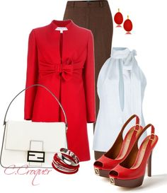 """Chic in Red"" by ccroquer ❤ liked on Polyvore"