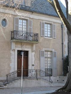 Stewart mansion French architect design™: Mary E. Stewart mansionFrench architect design™: Mary E. French Exterior, Stucco Exterior, Cottage Exterior, Cafe Exterior, French Architecture, Architecture Details, Restaurant Exterior, Urban Cottage, French Style Homes