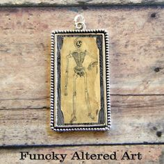 Vintage Anatomy SKELETON MAN Pendant by ProjectBunny on Etsy, $12.00