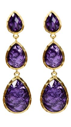 Purple jeweled earrings by Amrita Singh  East Hampton Andra Earrings, Violet