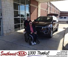 https://flic.kr/p/C4sGG4 | Congratulations Linda on your #Kia #Sorento from Gary Guyette Jr at Southwest KIA Rockwall! | deliverymaxx.com/DealerReviews.aspx?DealerCode=TYEE