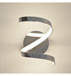 Wall light - design LED chromed silver (9 W) - Film