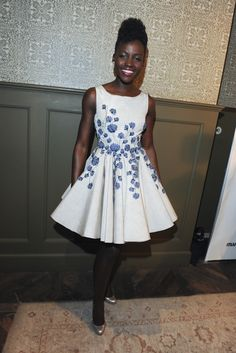 Lupita Nyong'o in Giambattista Valli Couture. [Photo by Amy Graves]