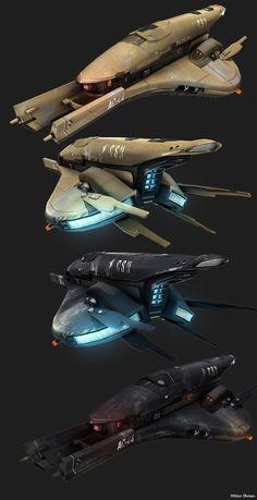 Nave conceptual por Beere / Spaceship concept by Beere Spaceship Concept, Spaceship Design, Concept Ships, Concept Art, Star Trek, Cyberpunk, Stargate, Sci Fi Spaceships, Vegvisir