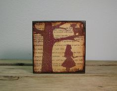 Alice In Wonderland Art Block Painting  Typography by MatchBlox, $29.00