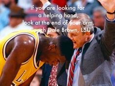 Coach Dale Brown advice to future NBA Hall of Fame athlete
