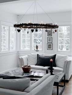 A Nordic Christmas in black and white