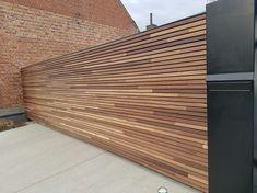 Precious Tips for Outdoor Gardens - Modern Backyard Garden Design, Backyard Fences, Pergola Patio, Backyard Landscaping, Garden Fencing, Pergola Kits, Cedar Cladding, Wall Cladding, Building A Fence