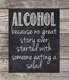 Chalkboard Alcohol Sign Instant Download by OurLittleMoments, $2.00