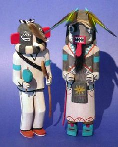 kachina dolls http://www.johnhillgallery.com/images/Kabintos.jpg