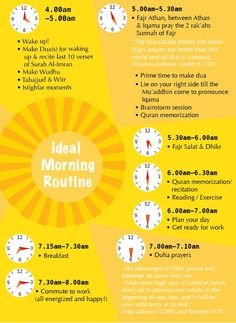 INSHALLAH I'll try to follow this routine.