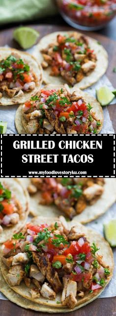 GRILLED CHICKEN STREET TACOS - #recipes