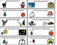 *****Christmas wh- questions from Boardmaker Share