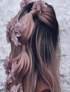Pinkish Black Mix Hairs Amazing Matching Colors