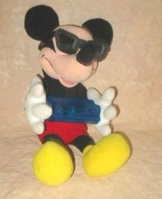 Disney Plush Blues Singing Mickey Mouse With Harmonica