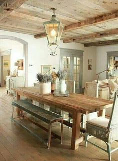Rustic And French Style Dining Space. 50 French Style Home Decorating Ideas  To Try This Year