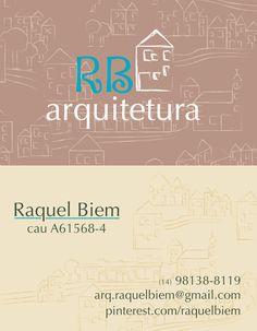 Raquel Biem / Fernando Sígolo / Vanessa Sueishi - Cartão de visitas de RB arquitetura