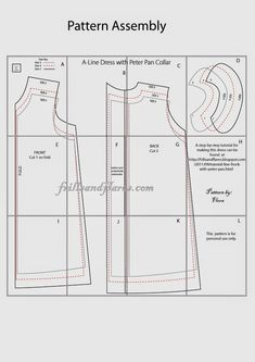 Frills and Flares: Free Pattern---A-Line Dress with Peter Pan Collar---Now Includes Sizes 4 and 5