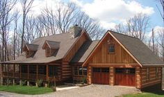 The Muirfield I log home plan is a stunning example of log home living at its best. Imagine living i ...