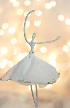 Watch this Ballerina DIY Christmas Ornament dance as it hangs from your Christmas tree.