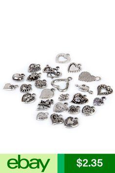 30 Clover Charm Good Luck 4 Leaf Clover Lucky Charm Antique Silver 11x20 2488
