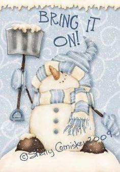 A cute snowman. Frosty The Snowmen, Cute Snowman, Snowman Crafts, Christmas Signs, Christmas Snowman, All Things Christmas, Xmas, Christmas Windows, Snowmen Pictures