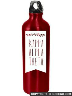 Kappa Alpha Theta Branch Banner Aluminum Bottle