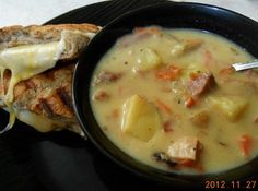 Good Ole Creamy Ham and Veggie Soup Recipe...what I need for the leftover Easter hambone.