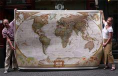 Hij is echt king size deze wereldkaart