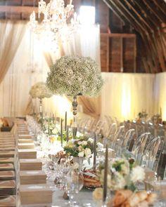 Formal farm wedding