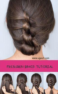 How to make a frisuren braid. #braid tutorial#hairstyle#frisuren braid