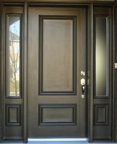Front Door Paint Colors - Want a quick makeover? Paint your front door a different color. Here a pretty front door color ideas to improve your home's curb appeal and add more style! Main Door Design, Front Door Design, Front Door Colors, Entrance Design, Gate Design, Window Design, The Doors, Entrance Doors, Windows And Doors