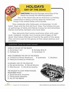 Day of the Dead: History Worksheet