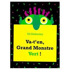 Qui a un long nez bleu turquoise, deux grands yeux jaunes, et des dents blanches et pointues ? C'est le Grand Monstre Vert qui se cache à l'intérieur de ton livre. Mais il est à ta merci !