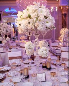 Reception:  Hints of Gold with Lilac as the up lighting.