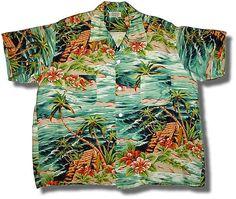 Vintage Hawaiian Shirt - vintagehawaiianshirt.net Hawaiian Wear, Vintage Hawaiian Shirts, Mens Hawaiian Shirts, Hawaiian Print, Vintage Shirts, Vintage Outfits, Americana Vintage, Hawiian Shirts, Mens Clothing Trends
