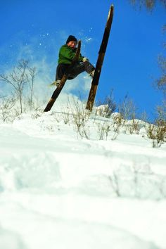 Local gets air on homemade skis in China, behind the scenes of Dynasty. warrenmiller.com