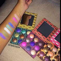 BH Cosmetics has great prices and do you see how pigmented these swatches are? Ah, so perfect.